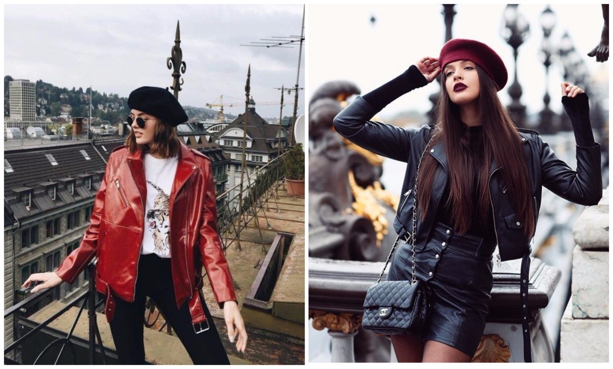 leather with beret