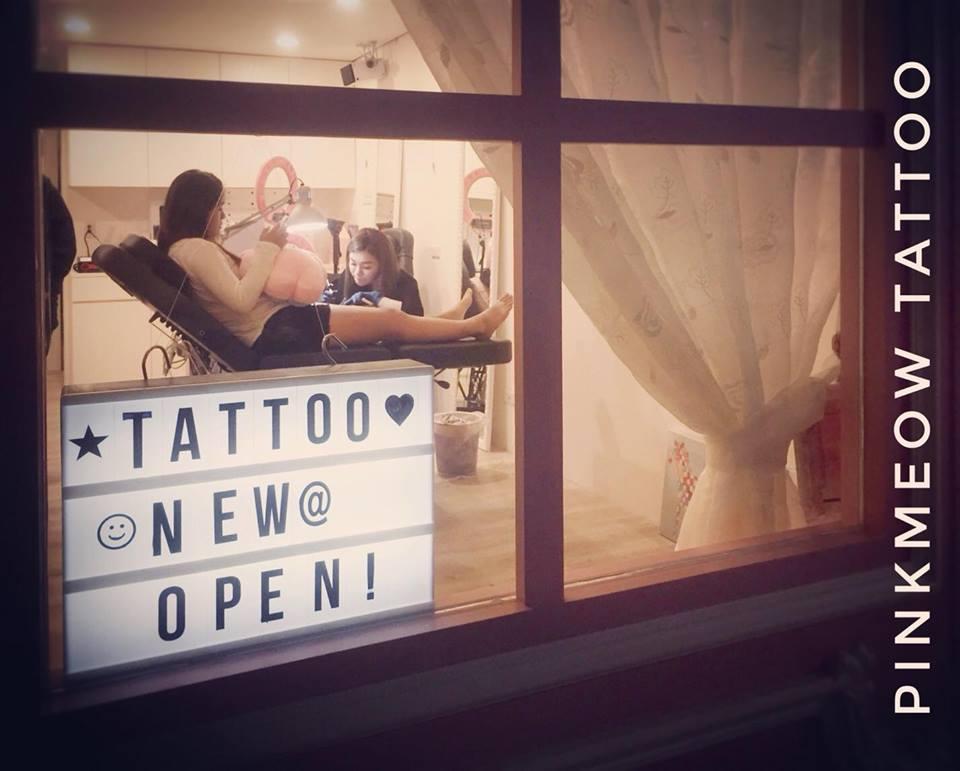 Pink Meow Tattoo4