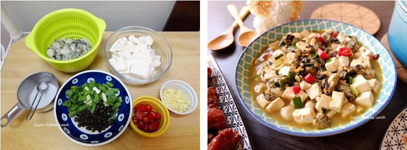 豆豉鮮蚵嫩豆腐