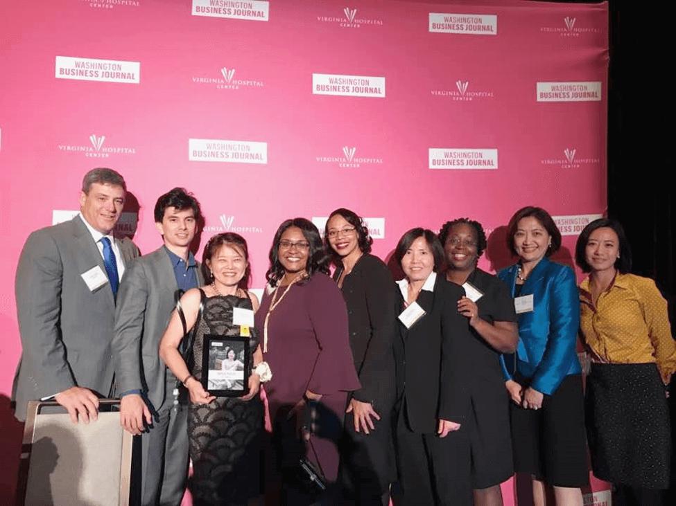 Sophia 被華盛頓商業雜誌選出為 2017 年傑出女企業家