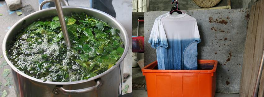 即便自然染做工繁複,林曉鳳和先生仍堅持使用友善大地的方式製作服裝。
