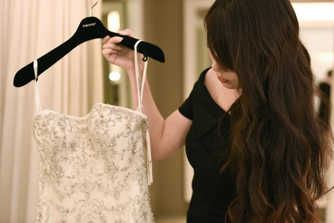 陳彥錞服務每位不同需求的新娘,希望讓每位新娘都能穿上最滿意的婚紗