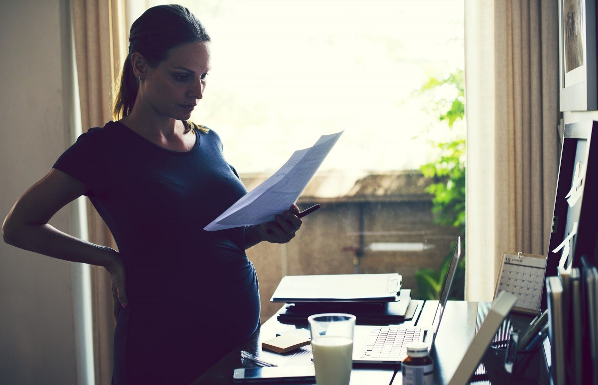 pregnant working