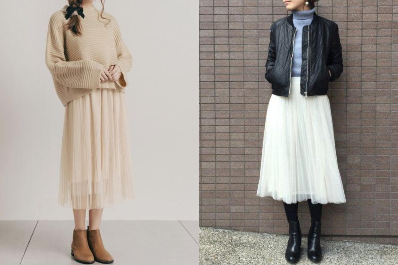 近年紗裙崛起~搭配後可以營造出鄰家少女的甜美清新感!