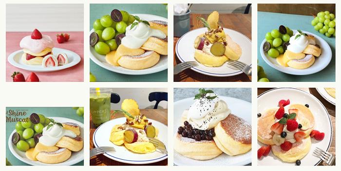 FLIPPER'S提供多樣化口味的舒芙蕾鬆餅,口味會隨著季節搭配不同的水果,濕潤蓬鬆的口感,搭配著滑順的鮮奶油,讓人忍不住一口接著一口。