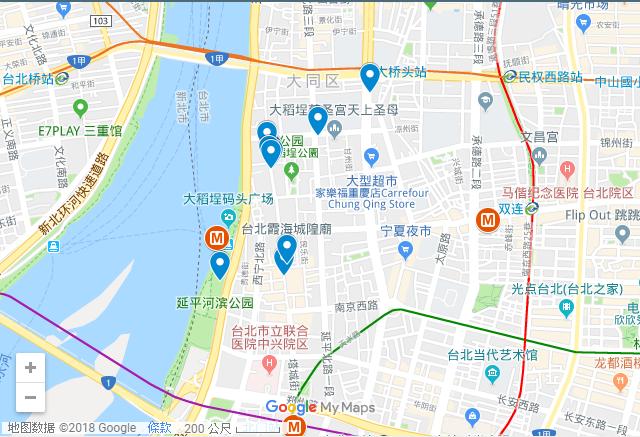 大稻埕位於台北市大同區,迪化街是其中一部分,也很靠近萬華區,交通相當方便,捷運或是公車都可以到