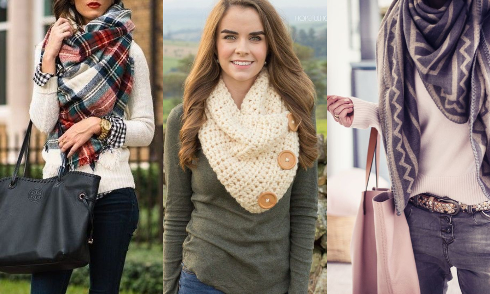 利用各種不同的打法,營造出層次大方、俐落的感覺,通常選擇厚度夠、長度較長的圍巾,效果會更好!