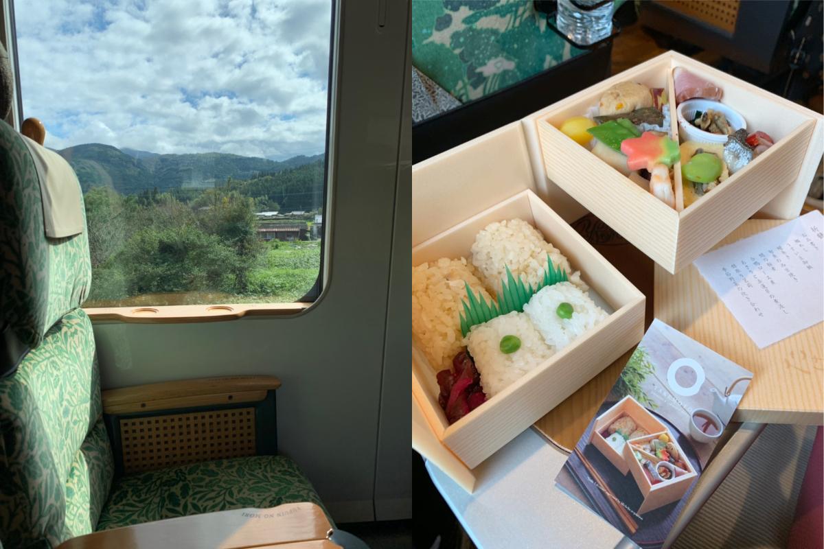 車程中可靜靜地欣賞北九州優靜的景色,還可品嘗列車限定的和風便當。