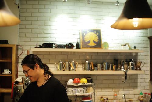 Alex 提到,當初還沒開店時,是在公園裡擺攤賣咖啡開始的