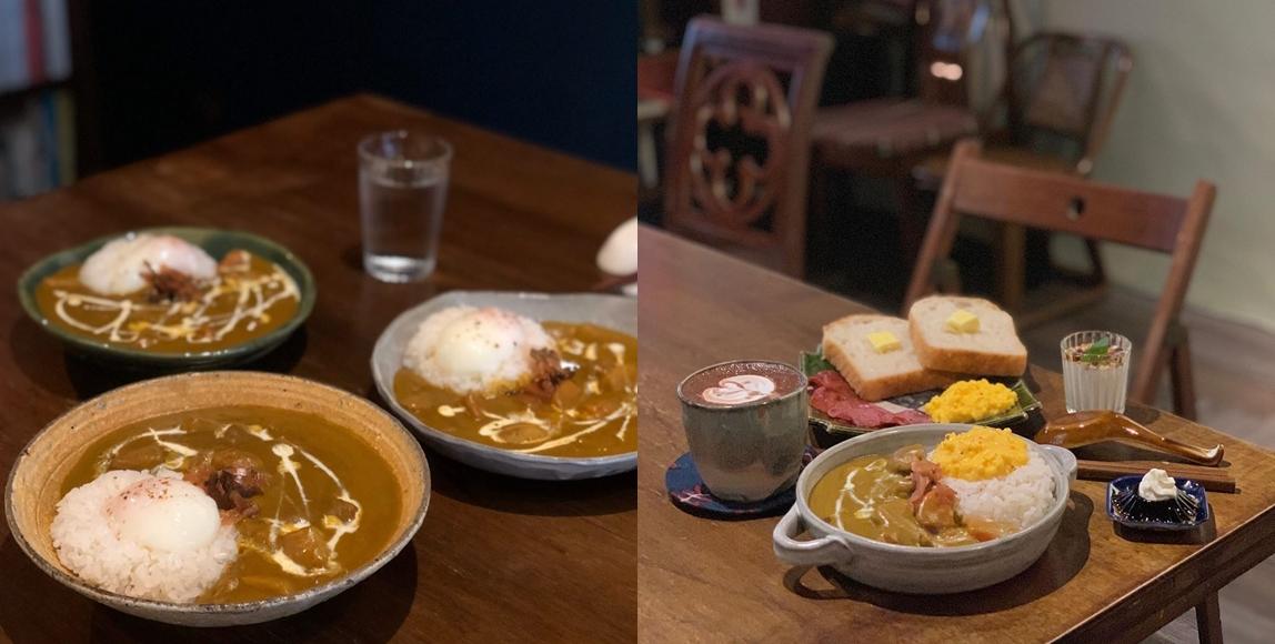 在幻猻家珈琲有醒腦的咖啡因,肚子餓的時候也有咖哩飯。